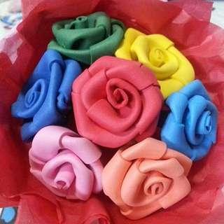Handmade Rainbow Rose Flower Bouquet