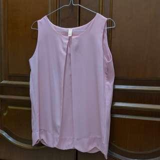 Sleeveless Pink Simpel