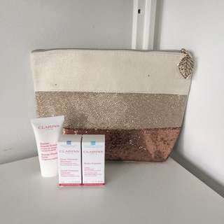 Clarins bag and samples