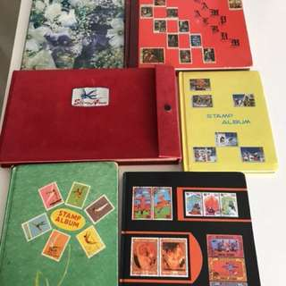 6 books of stamps collection