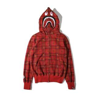 Bape x Undefeated Red Jacket Pullover Hoodie Jackets Sweater
