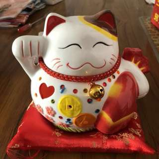 6 inches Musical Fortune cat can sing with lights blinking