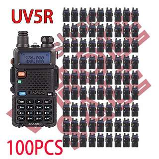 100pcs x BAOFENG UV-5R Daul Band walkie talkie (NOT includes shipping)