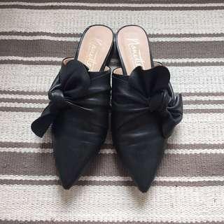 Nanette Lepore black slide mules