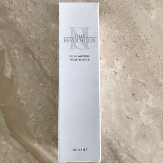 Missha Time Revolution Clear Whipping Foam Cleanser