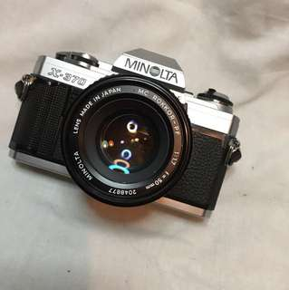 MINOLTA X-370 & 50mm F1.7
