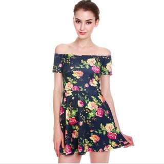 MDS Summer Cypress Off Shoulder Dress