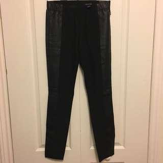 Club Monaco Black (Faux) Leather Leggings Sz 2
