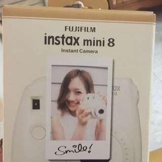Instax 8 white polaroid