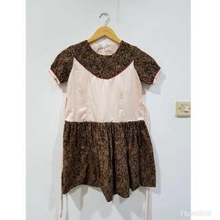 #ImlekHoki Dress anak mbatik mix polos