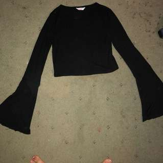 Bell Sleeved Crop