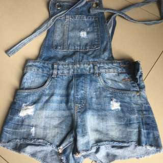 Zara short jeans overall-discounted!!