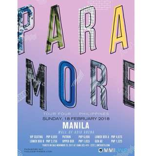 Selling 1pc PARAMORE TOUR 4 Gen Ad ticket