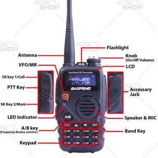 BAOFENG B-580T 136-174/400-520MHz + Car antenna +Mic