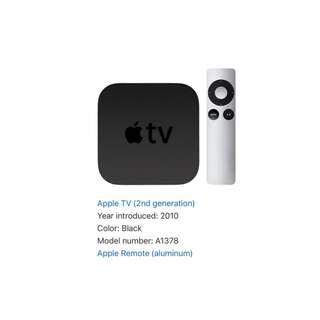 Apple TV 2nd Gen (SALE⭐️⭐️⭐️💦)