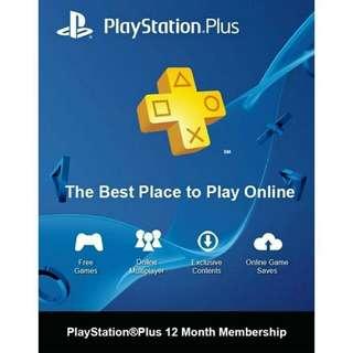 PlayStation Plus Membership 12 Months - PS3/PS4/PS Vita
