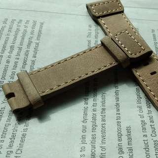淺啡24mm厚身皮表帶(無扣)