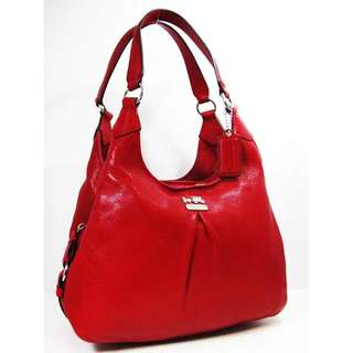 COACH 21225 MAGGIE Punch Leather Satchel Shoulder Bag