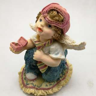 Perfect Little Place #1 Angel Boy Ceramic Figurine Decor