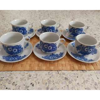 Vintage Coffee Set (6sets/ pack)