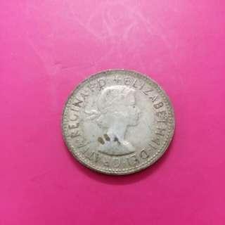 女王頭 Dei Gratia Regina G.D.shilling 1961