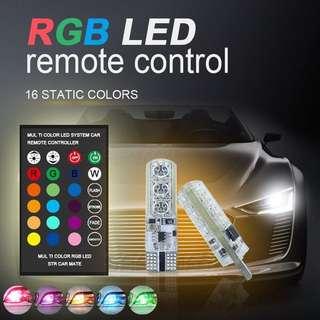 CHEAPEST T10 6SMD 5050RGB 6 LED Multi-Color w Remote