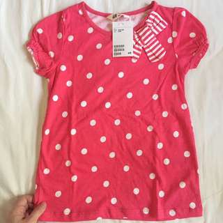 H&M Red Polka Dots tops *Brand New*