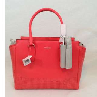 Coach Legacy Perforated Leather Medium Candace Carryall 22390 SV/Watermelon