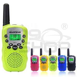 1 Pair BaoFeng T-3 Kids Walkie Talkie GREEN Two Way Radio BF-T3 Mini radio