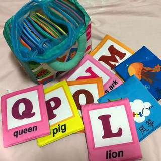 Alphabets cloth book with bag