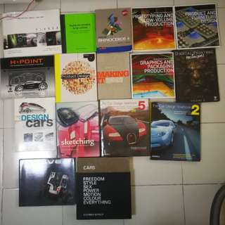 Various Product/ Industrial Design Books for Sale