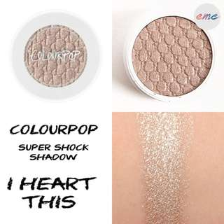 BNIB Colourpop Super Shock Shadow Eyeshadow I Heart This