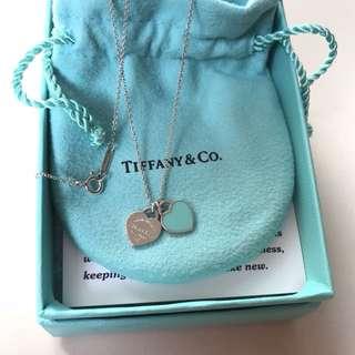 Tiffany & Co double heart pendant