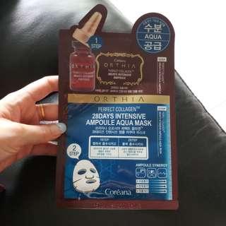Coreana ampolue aqua mask