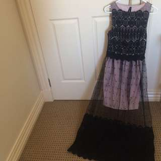 Ally Maxi Dress With Mesh And Lace