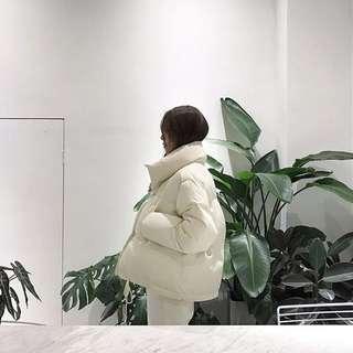 FIF  寒流特價/韓國短版麵包棉絨外套/