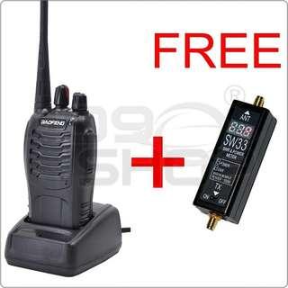 BAOFENG BF-888S UHF Radio FREE FOR + SURECOM SW33Mark2 VHF/UHF mini Power & SWR Meter