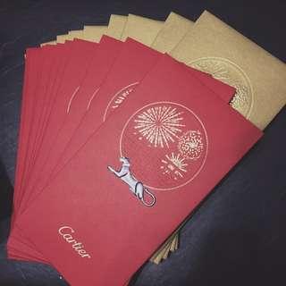 卡地亞 Cartier VIP 利是封 (每盒20個,10金10紅)