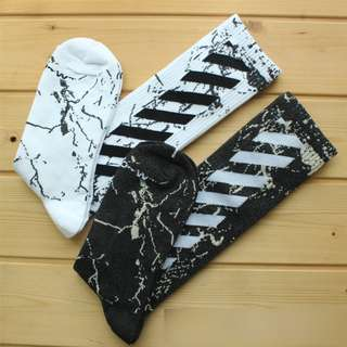 Off White OW Off-White Black White Marble Socks