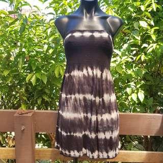 BLACK DYE DRESS