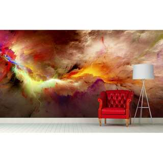 Gold Dimension Wall Mural Art