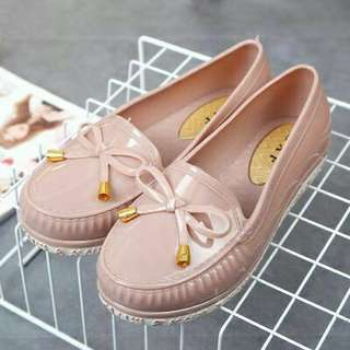 Rubber flat shoes
