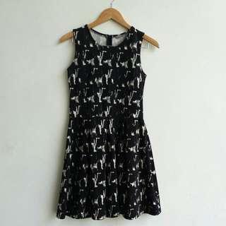 Black Abstract Dress