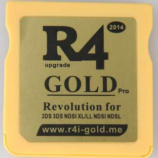 R4 Gold with 4GB MicroSD for 3DS XL