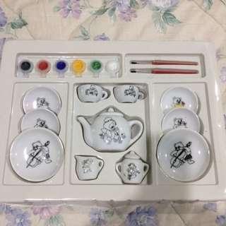 Painting set mini porcelain tea set