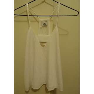 Classy Mia Size 8 White Shoe String Top