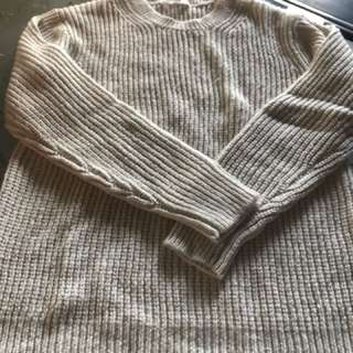 全新-白色長袖毛衣