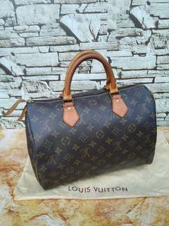 Authentic Louis Vuitton Speedy 30 handbag Made in France
