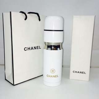 Chanel Pearl White Thermo Protein Tumbler Cup