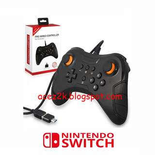 (BNIB) Nintendo Switch Pro Wired Controller (Brand New Boxed)